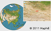 """Satellite Location Map of the area around 46°1'3""""N,98°40'30""""E"""