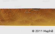 """Physical Panoramic Map of the area around 46°1'3""""N,98°40'30""""E"""