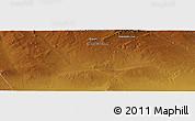 Physical Panoramic Map of Dara Eheiin Jisa