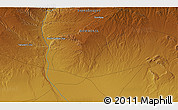 """Physical 3D Map of the area around 46°1'3""""N,99°31'30""""E"""