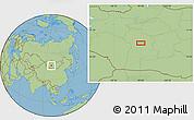 "Savanna Style Location Map of the area around 46°1'3""N,99°31'30""E"