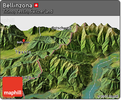 Free Satellite 3D Map of Bellinzona