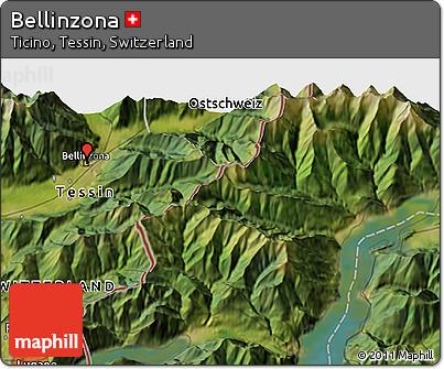 Free Satellite 3D Map of Bellinzona