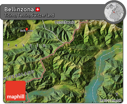 Free Satellite Map of Bellinzona