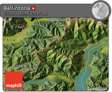 Free Satellite Map of Bellinzona