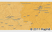 Political 3D Map of Brux