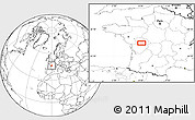 """Blank Location Map of the area around 46°26'14""""N,0°4'30""""E"""