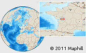 Shaded Relief Location Map of Poitiers