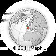 Outline Map of Niort, rectangular outline