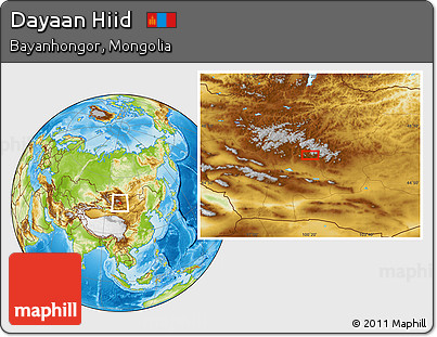 Physical Location Map of Dayaan Hiid