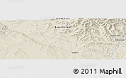 "Shaded Relief Panoramic Map of the area around 46° 26' 14"" N, 100° 22' 30"" E"