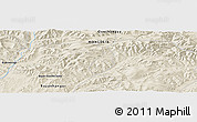 Shaded Relief Panoramic Map of Erdenetsogt