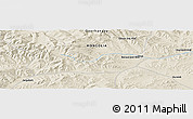 Shaded Relief Panoramic Map of Jargalant