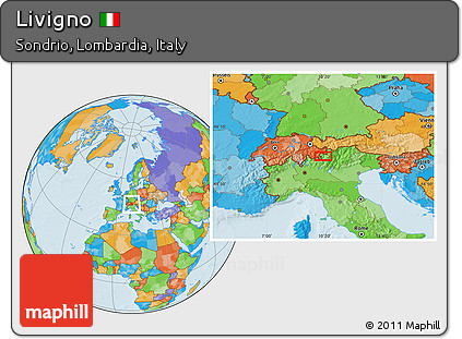 Free Political Location Map of Livigno