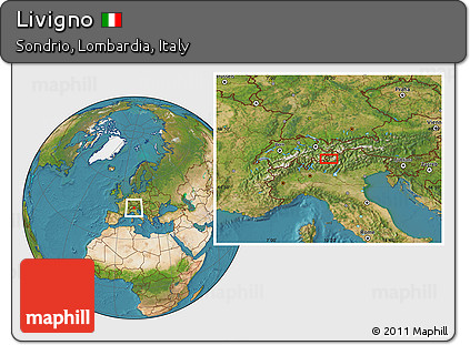 Free Satellite Location Map of Livigno
