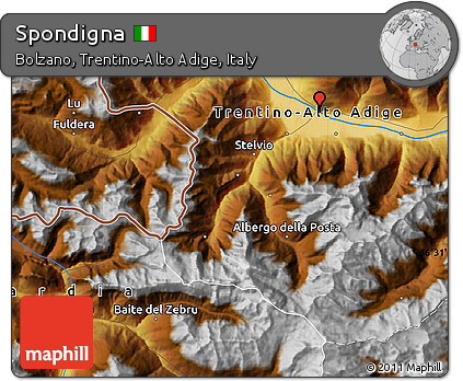 Free Physical Map of Spondigna