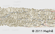 Shaded Relief Panoramic Map of Magnano in Riviera