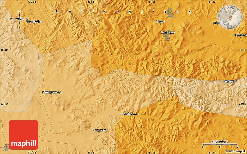 Political Map Of Baoshan - Baoshan map