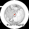Outline Map of Shuangyashan, rectangular outline