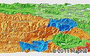 Political 3D Map of Jesenice