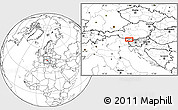 Blank Location Map of Jesenice