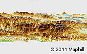 Physical Panoramic Map of Spodnje Gorje