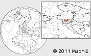 """Blank Location Map of the area around 46°26'14""""N,14°31'30""""E"""