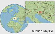 "Savanna Style Location Map of the area around 46°26'14""N,14°31'30""E"