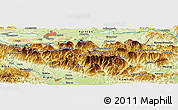 Physical Panoramic Map of Kranj