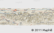 Shaded Relief Panoramic Map of Klagenfurt