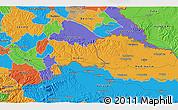 Political 3D Map of Varaždin