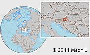 Gray Location Map of Varaždin