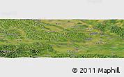 Satellite Panoramic Map of Varaždin