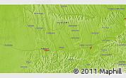Physical 3D Map of Kisivánpuszta