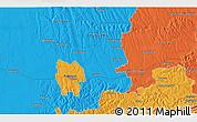 Political 3D Map of Kaposvár