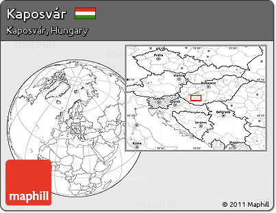 Blank Location Map of Kaposvár
