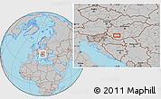 Gray Location Map of Kaposvár