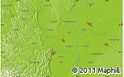 Physical Map of Szekszárd