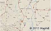 Shaded Relief Map of Szekszárd