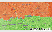 """Political 3D Map of the area around 46°26'14""""N,1°46'29""""E"""