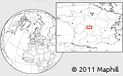 """Blank Location Map of the area around 46°26'14""""N,1°46'29""""E"""