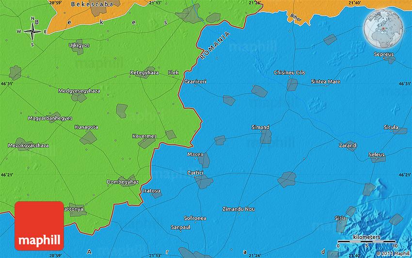 Political Map of Sintea Mare