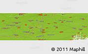 "Physical Panoramic Map of the area around 46° 26' 14"" N, 21° 19' 30"" E"
