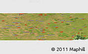 "Satellite Panoramic Map of the area around 46° 26' 14"" N, 21° 19' 30"" E"