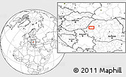 """Blank Location Map of the area around 46°26'14""""N,22°10'29""""E"""