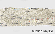 Shaded Relief Panoramic Map of Bobăreşti