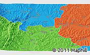 Political 3D Map of Băişoara