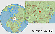 Savanna Style Location Map of Băişoara