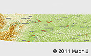 Physical Panoramic Map of Cacova Ierii