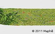 Satellite Panoramic Map of Băişoara